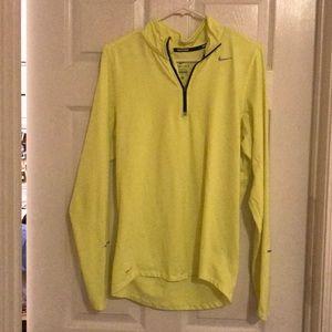 Neon yellow Nike half zip pullover